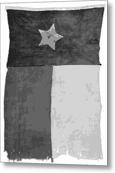 Old Texas Flag Bw10 Metal Print
