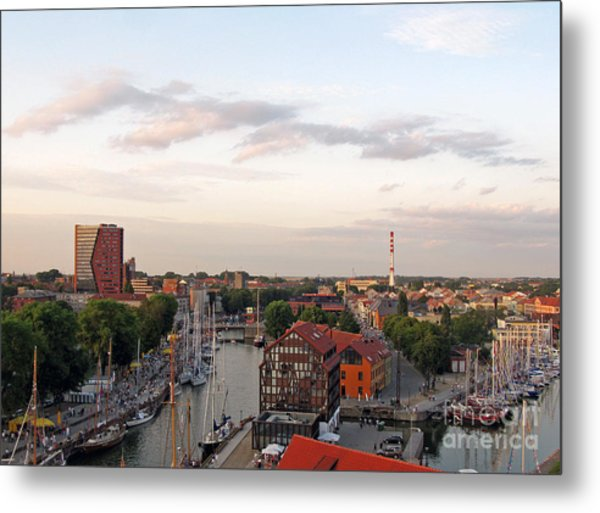 Old Town Klaipeda. Lithuania. Metal Print