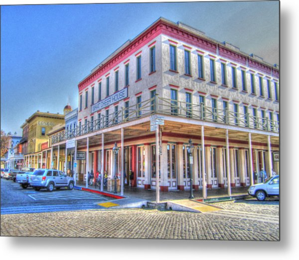 Old Towne Sacramento Metal Print by Barry Jones