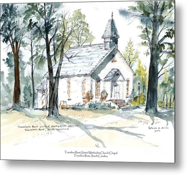 Image of: Rd Spotsylvania Old Travelers Rest Methodist Church Metal Print By Patrick Grills Fine Art America Old Travelers Rest Methodist Church Painting By Patrick Grills