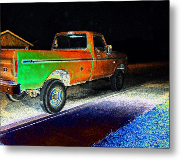 Old Truck At Night Metal Print