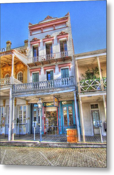 Old West Architecture Metal Print by Barry Jones