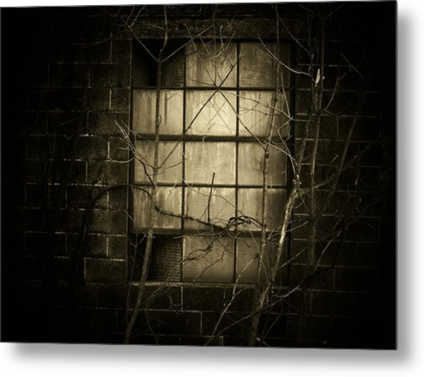 Old Window Metal Print by Michael L Kimble