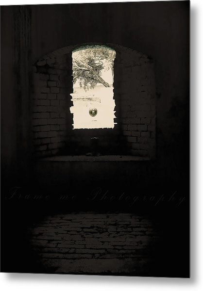 Old Window Metal Print by Vanessa Benson