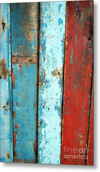 Old Wooden Background Metal Print by Antoni Halim