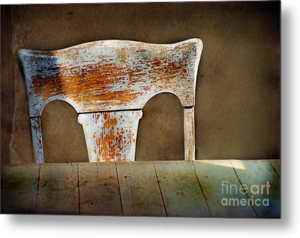 Old Wooden Chair Metal Print