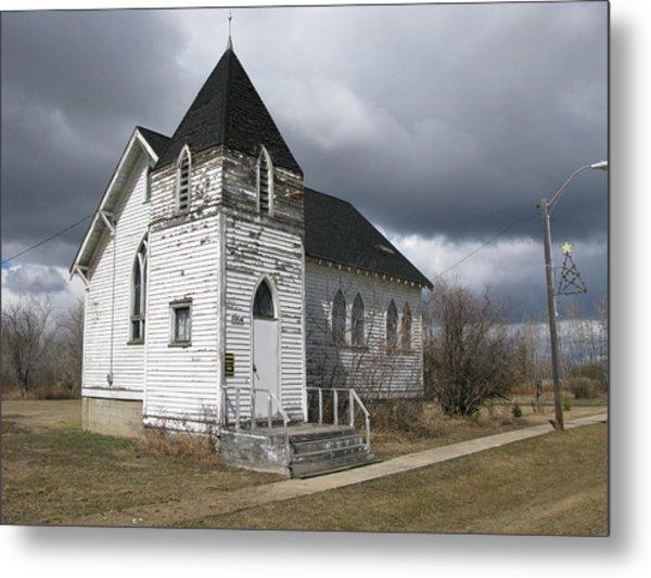 Ominous Church Metal Print
