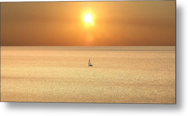 On Golden Seas Metal Print