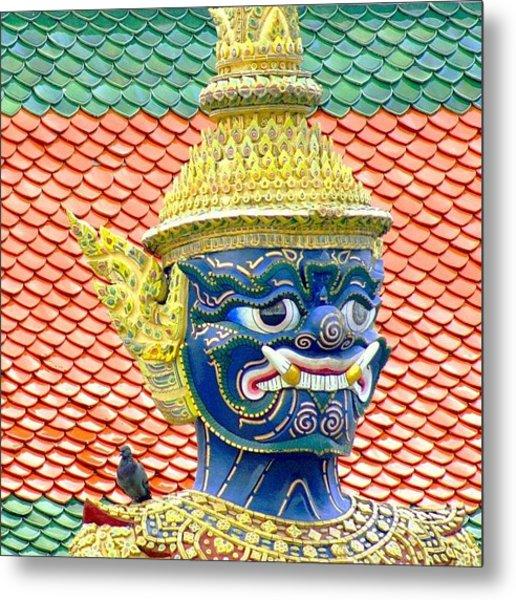 On Guard.. #thailand #travel Metal Print