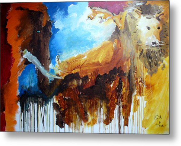 On Safari Metal Print