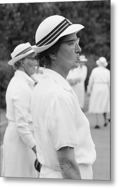 On The Bowling Green Metal Print by John Drysdale