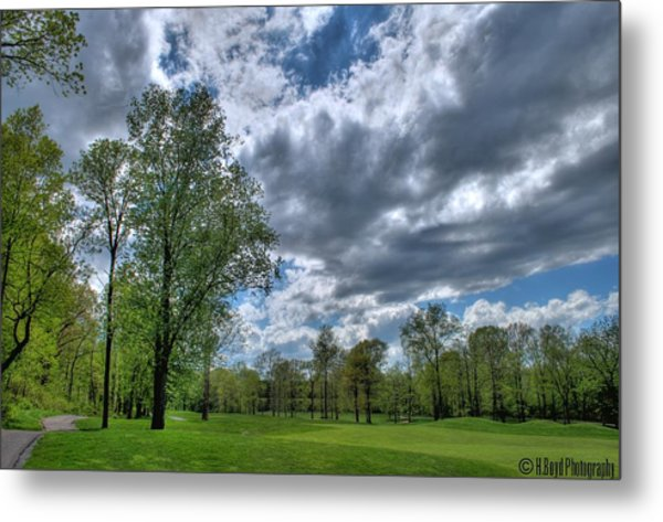 On The Course  Metal Print by Heather  Boyd