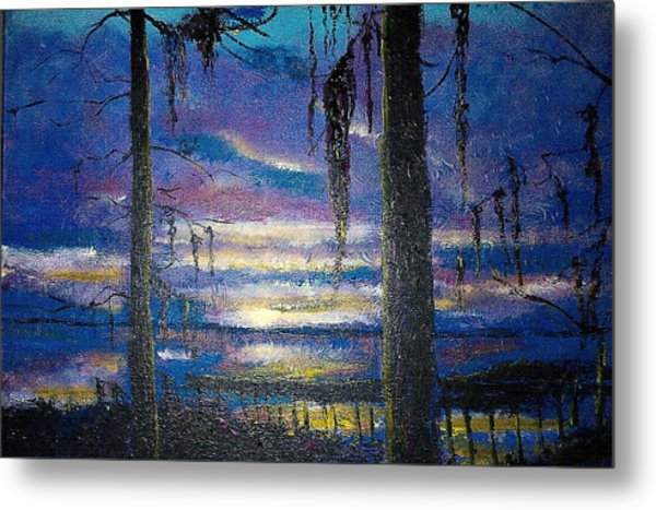 On The Shore Of Waccamaw Metal Print