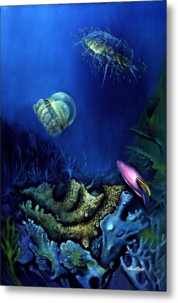 One Fish Two Jelly Fish Metal Print