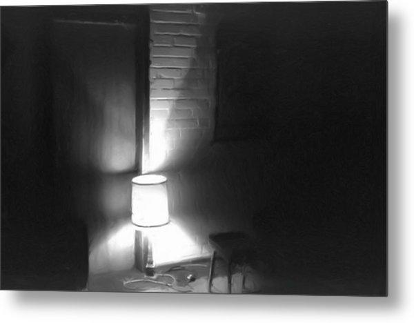 One Room One Light -- Ein Zimmer Ein Licht Metal Print by Arthur V Kuhrmeier