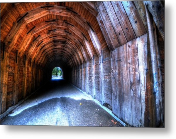 Metal Print featuring the photograph Oneonta Gorge Tunnel by Matt Hanson