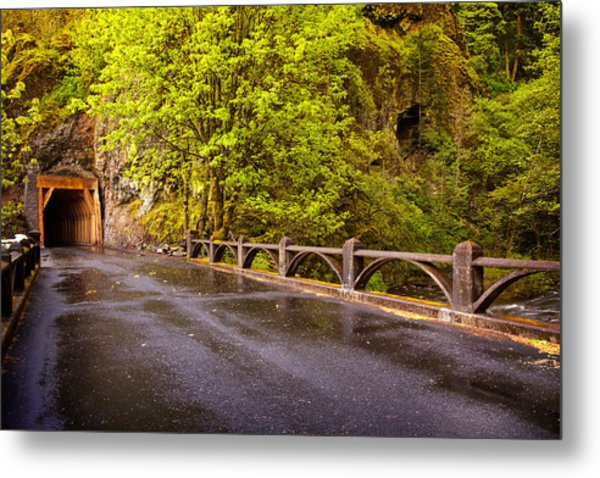 Oneonta Tunnel Metal Print