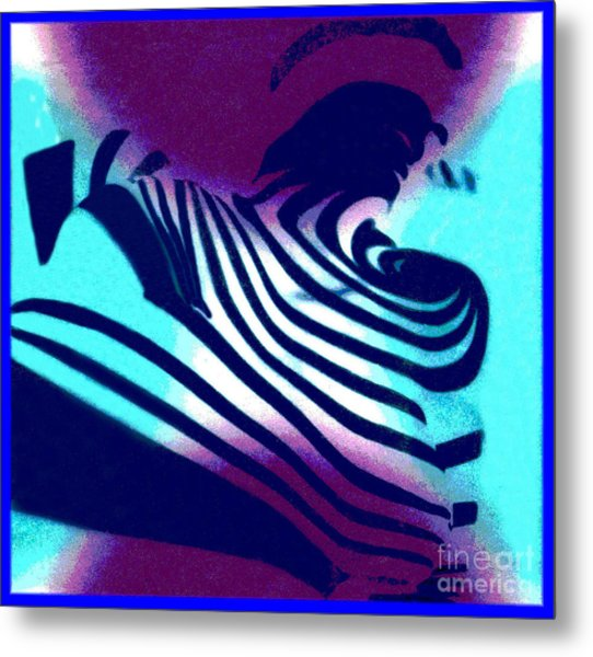 Op Art Design 1 Metal Print by Christine Perry
