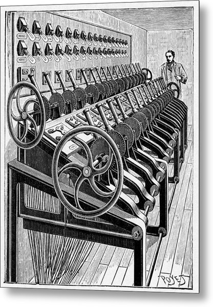 Opera House Lighting Controls, Artwork Metal Print by Cci Archives