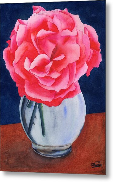 Metal Print featuring the painting Opera Rose by Ken Powers