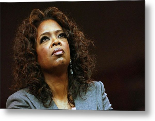 Oprah Winfrey In Attendance For Barack Metal Print by Everett