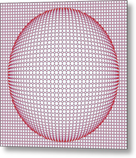 Optical Illusion Blue And Red Metal Print