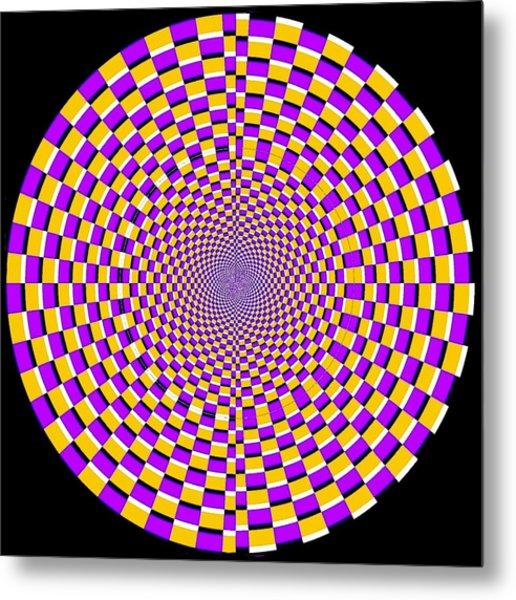 Optical Illusion Moving Cobweb Metal Print