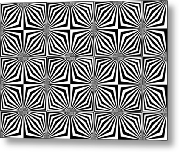 Optical Illusion Spots Or Stares Metal Print