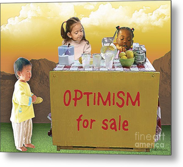 Optimism For Sale Metal Print
