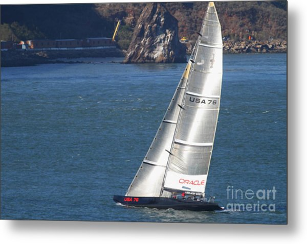 Oracle Racing Team Usa 76 International America's Cup Sailboat . 7d8069 Metal Print by Wingsdomain Art and Photography
