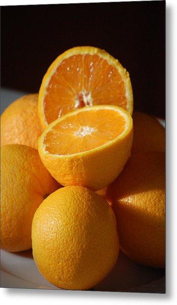 Orange Halves Metal Print by Dickon Thompson