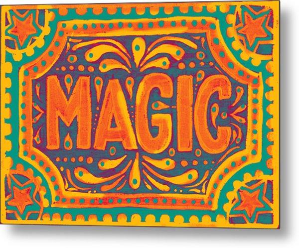 Orange Magic  Metal Print