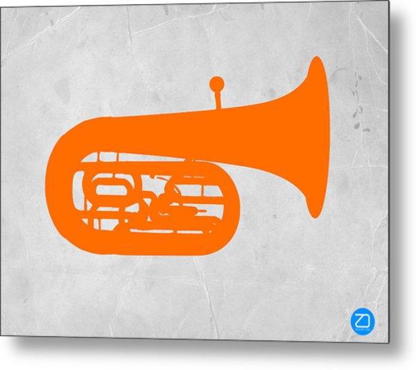 Orange Tuba Metal Print