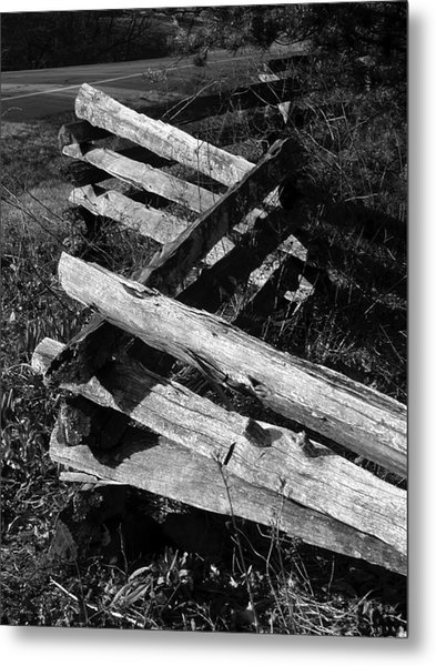 Orchardfence Metal Print by Curtis J Neeley Jr