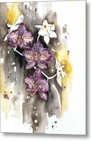 Orchid 13 Elena Yakubovich Metal Print