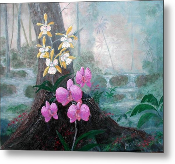 Orchid Wilderness Metal Print