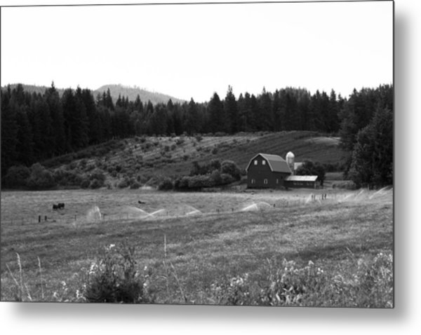 Oregon Farm Metal Print