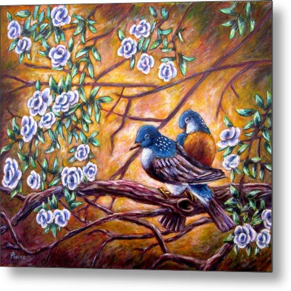 Oriental Birds Metal Print