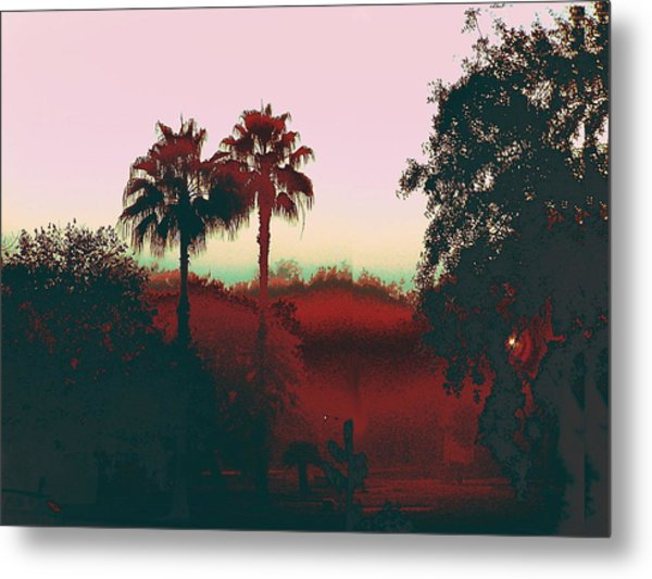 Original Fine Art Digital Gulf Coast Misty Morning Metal Print