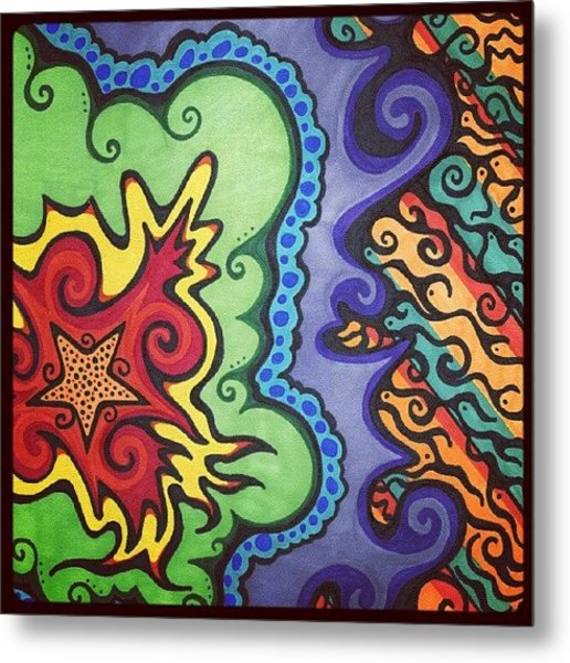 Original #sharpie Art ! From Metal Print