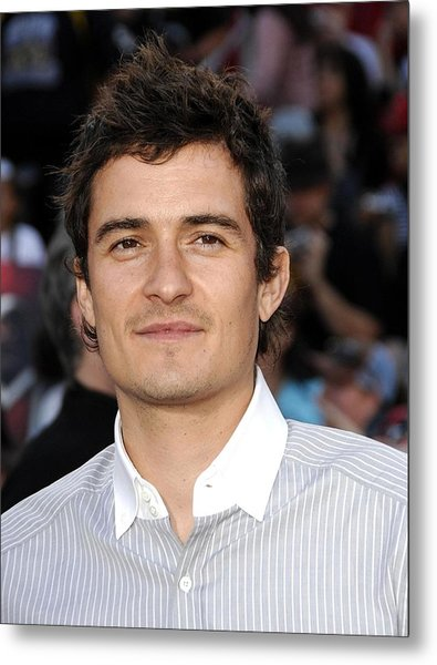 Orlando Bloom At Arrivals For Premiere Metal Print