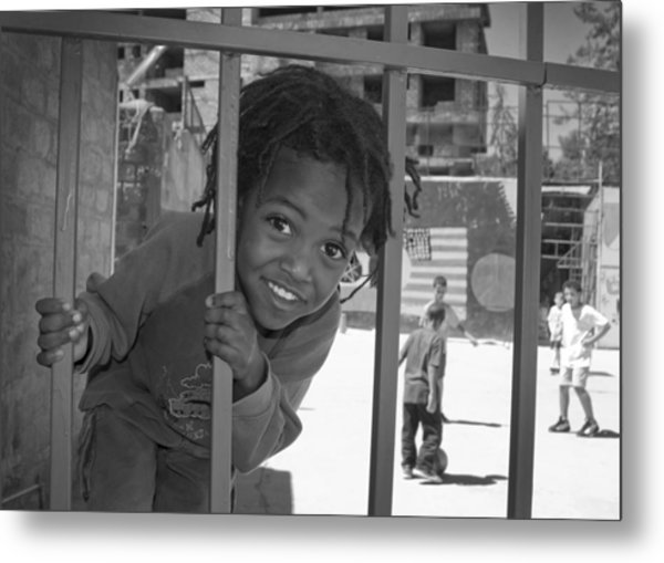 Orphanage In Addis Ababa Metal Print by Nichon Thorstrom