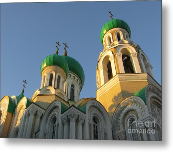 Orthodox Church Of Sts Michael And Constantine- Vilnius Lithuania Metal Print