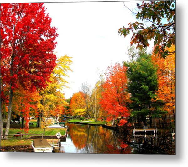 Our Canal Metal Print
