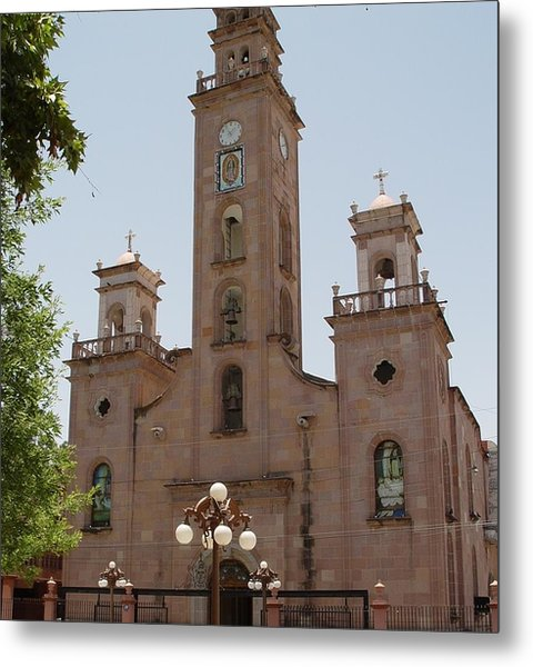 Our Lady Of Guadalupe Piedras Negras Mexico Metal Print