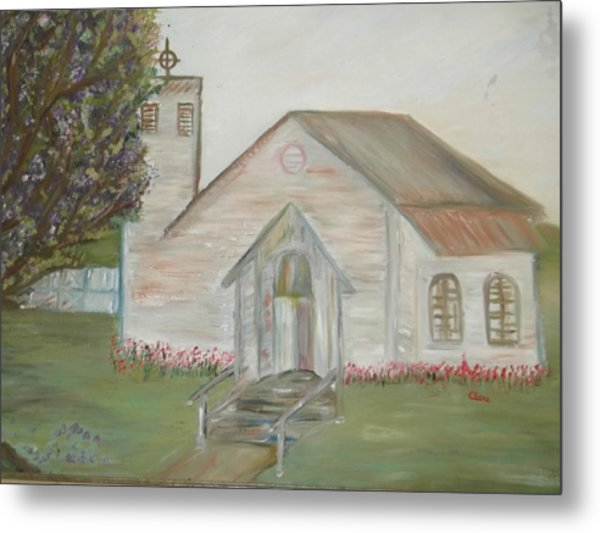 Our Lady Queen Of Angels Church  Metal Print