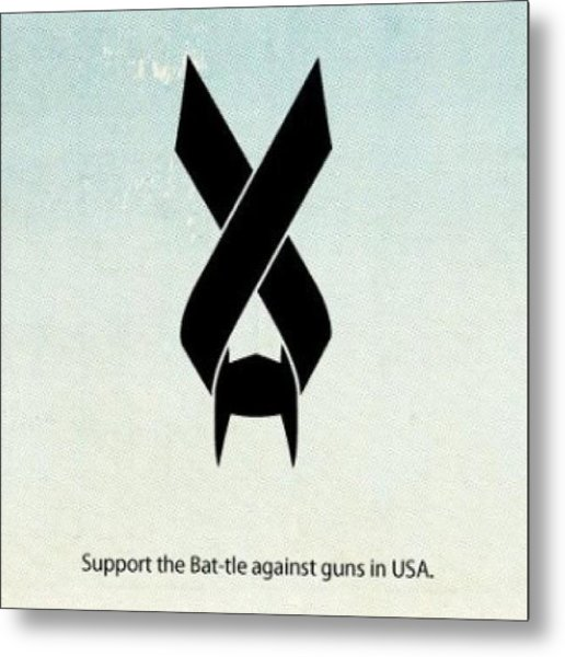 Out Bat-tle Is Now! Against Guns In Usa Metal Print