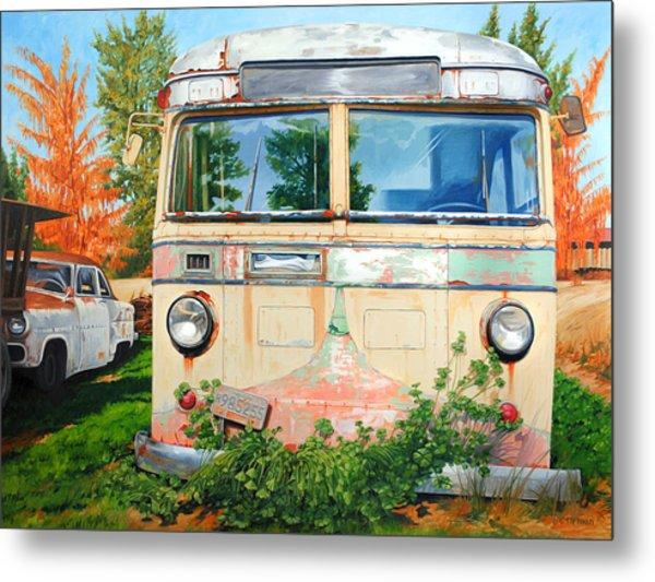 Out Where The Buses Don't Run Metal Print