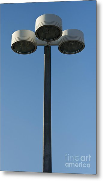 Outdoor Lamp Post Metal Print by Blink Images