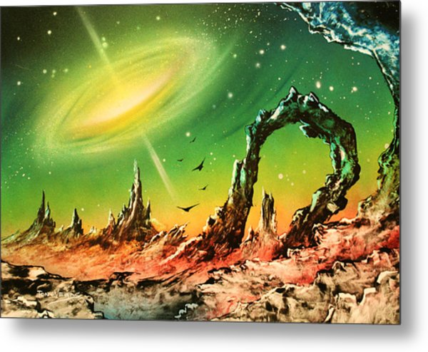 Outer Eye Galaxy Metal Print by Tony Vegas